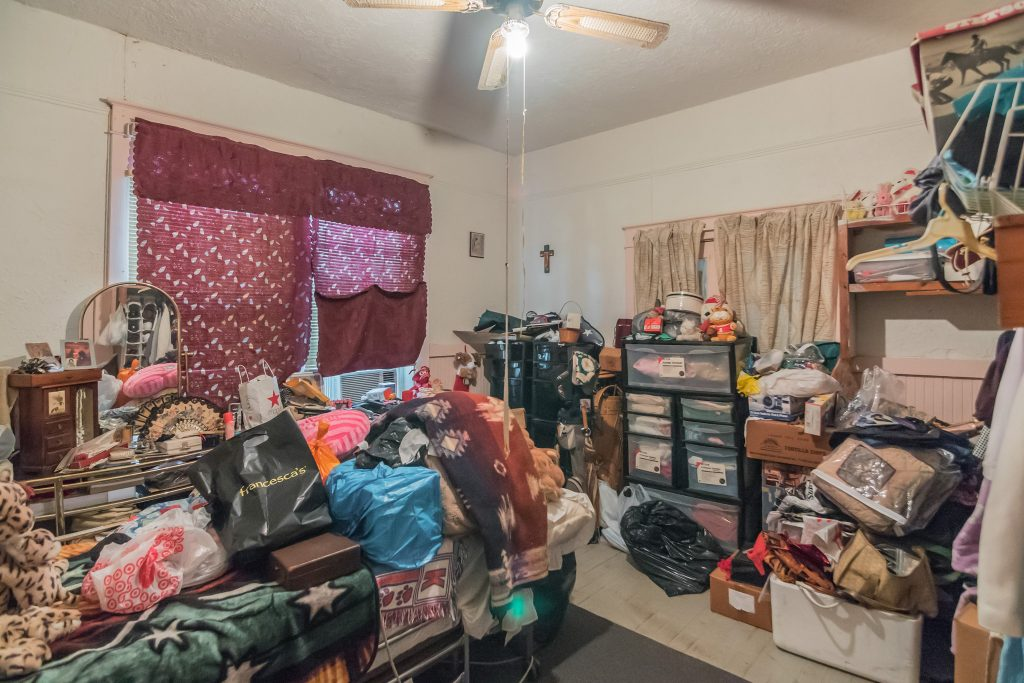 clutter in room - real estate photo