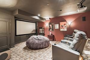 real estate photography - theater room