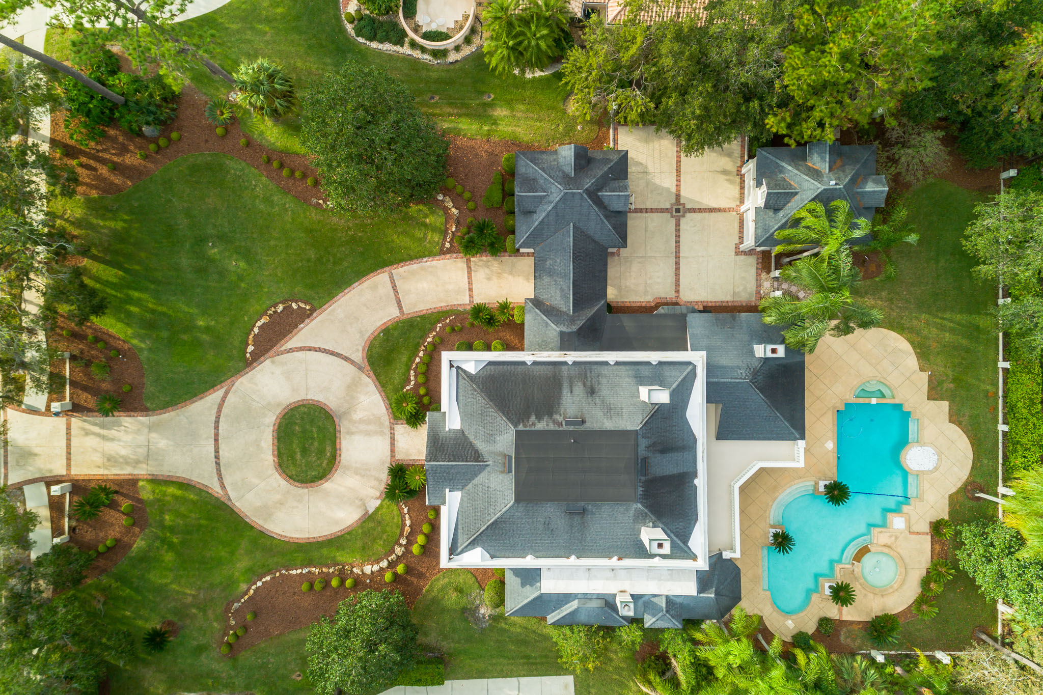 real estate photo - aerial