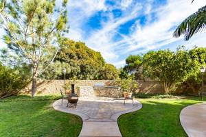 real estate photo - backyard