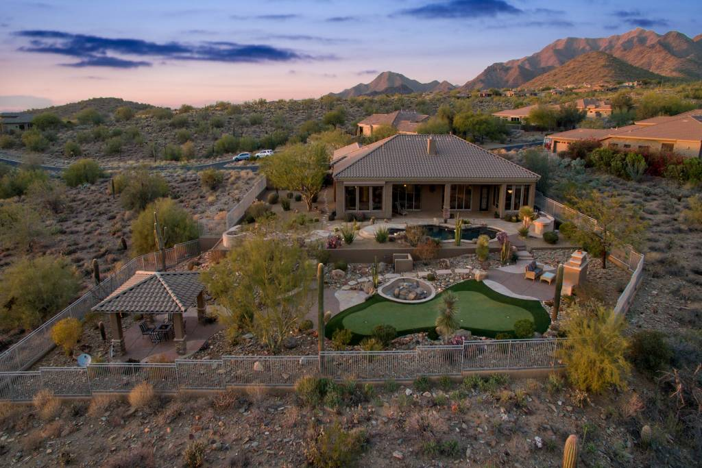 Twilight Shoot of Arizona Home