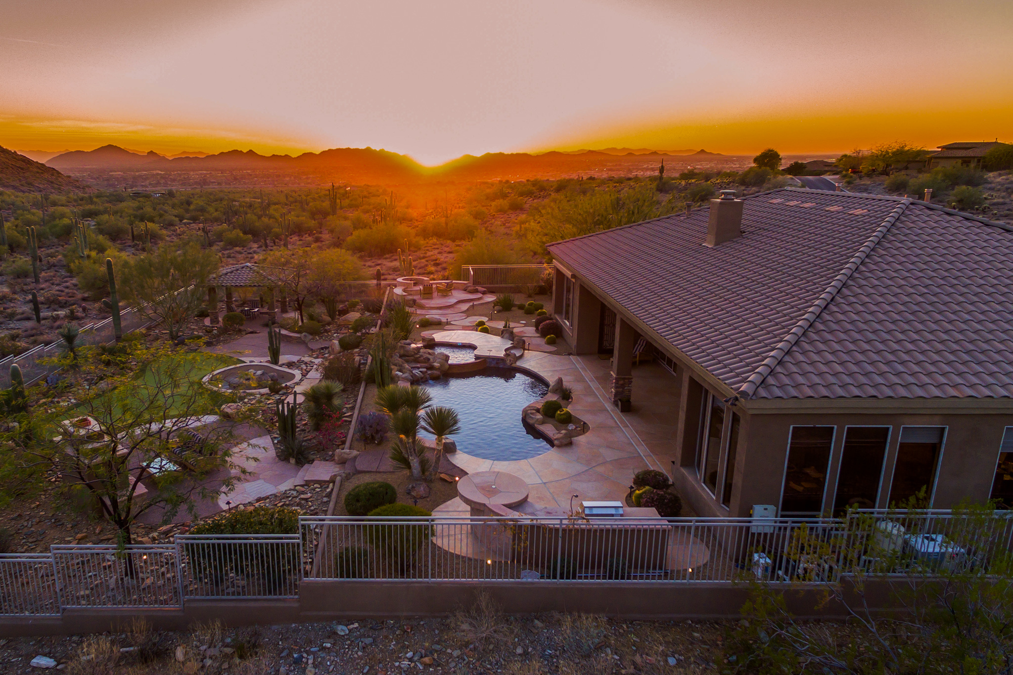 Sunset photo of Arizona Home