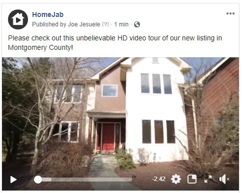 Video tour posted on Facebook
